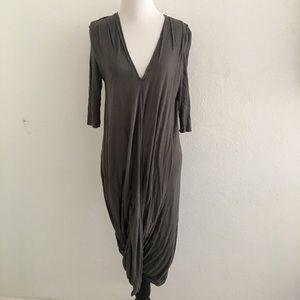 Helmut Lang Jersey V Neck Dress Size M